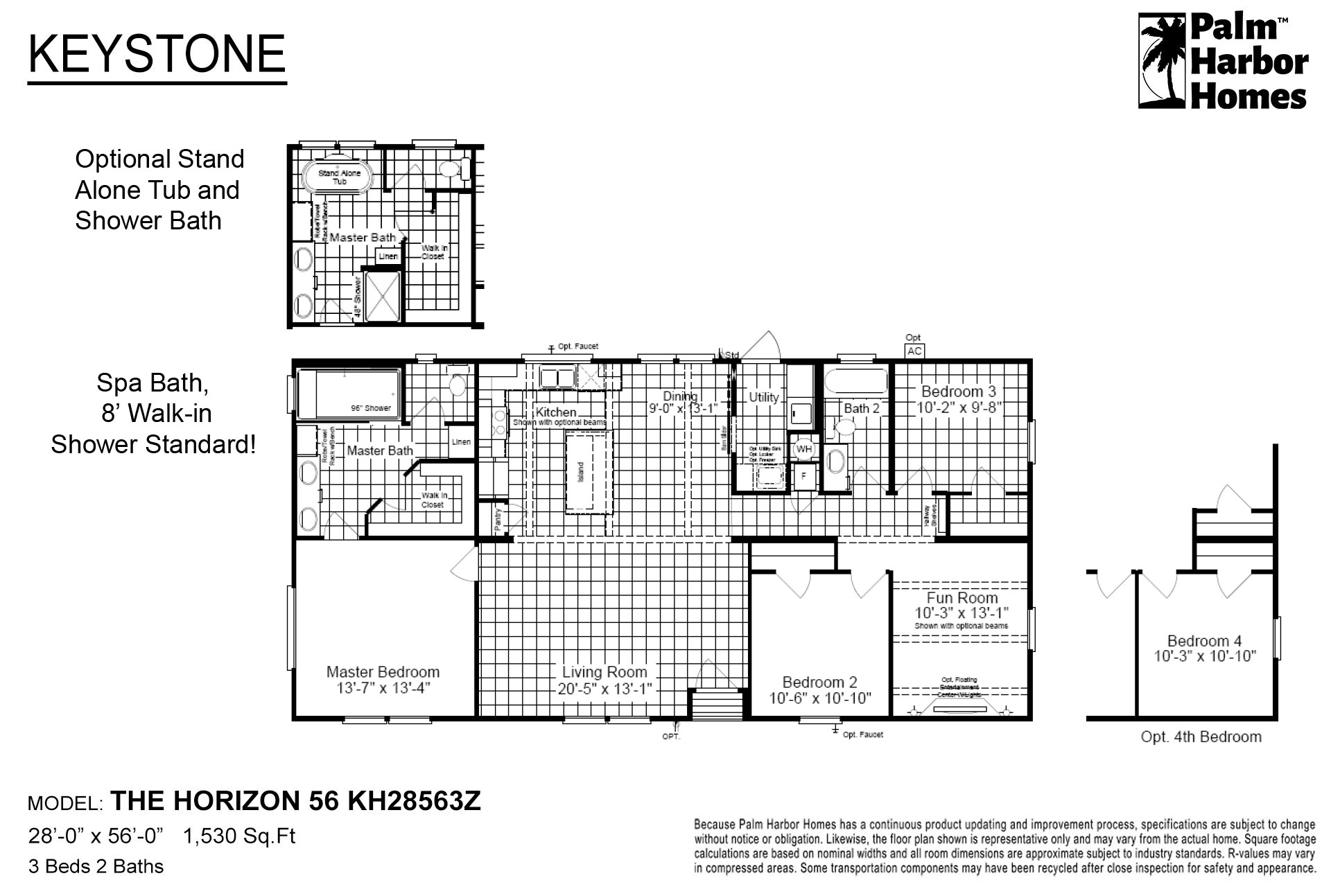 Keystone The Horizon 56 KH28563Z Layout