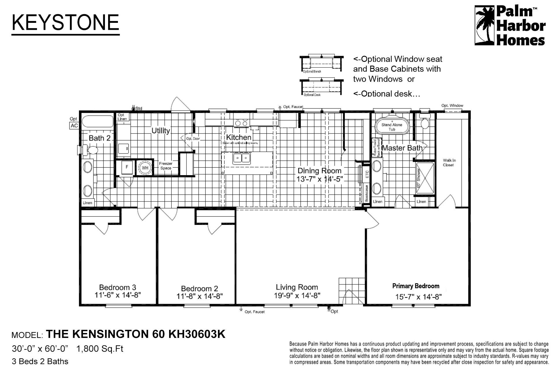 Keystone The Kensington 60 KH30603K Layout