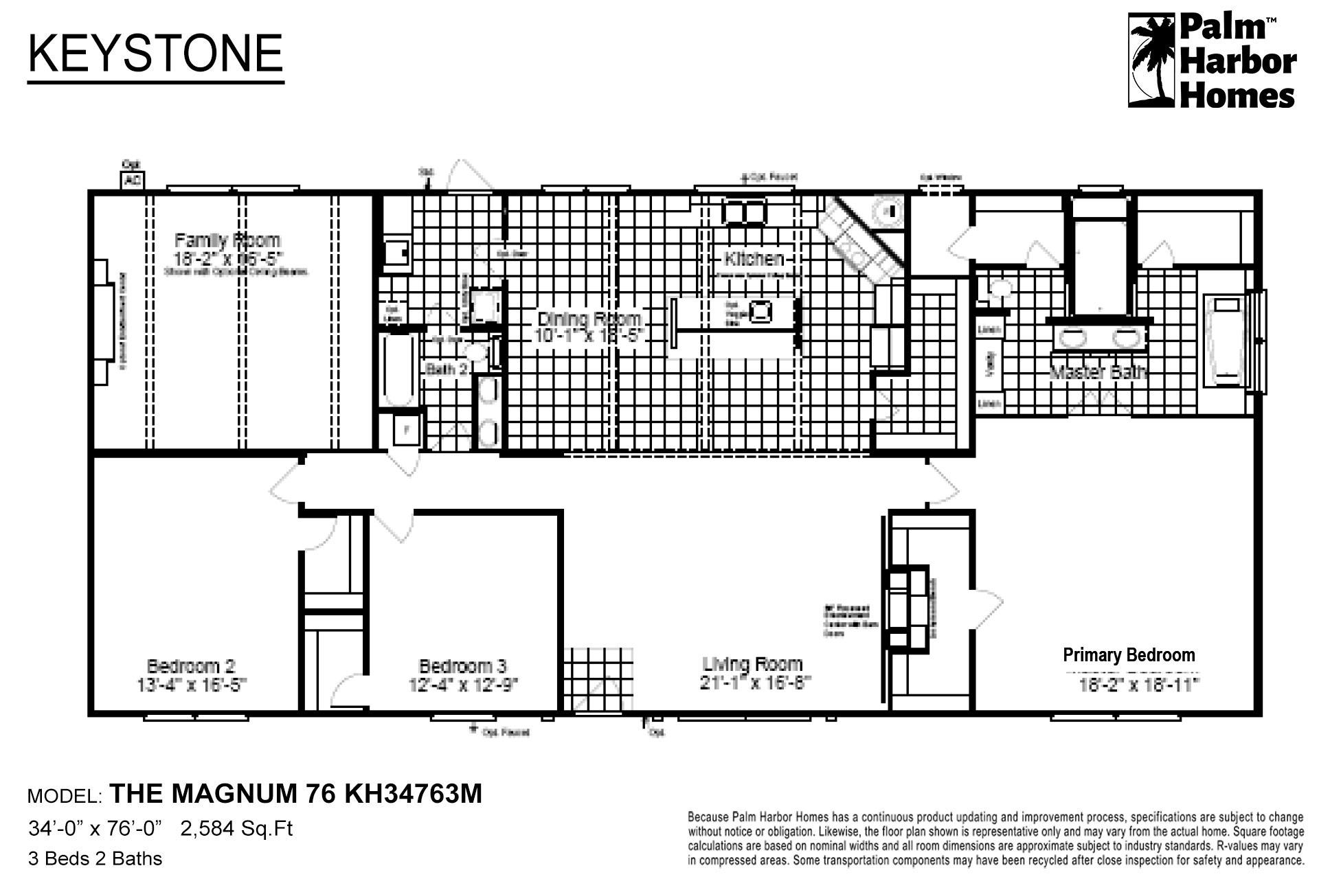 Keystone The Magnum 76 KH34763M Layout