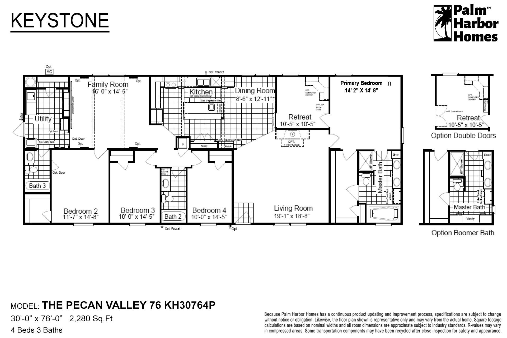 Keystone The Pecan Valley 76 KH30764P Layout