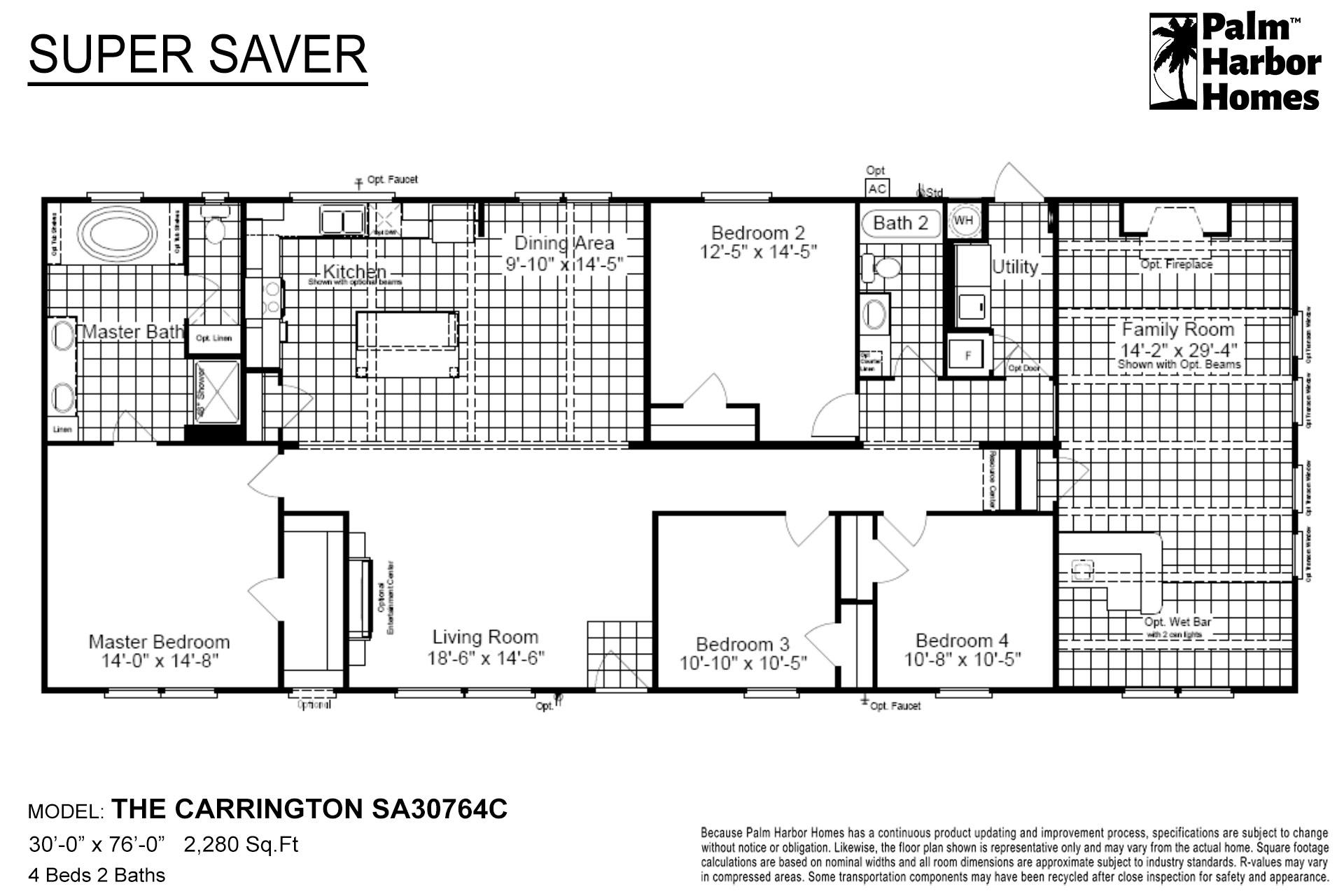 Super Saver The Carrington SA30764C Layout