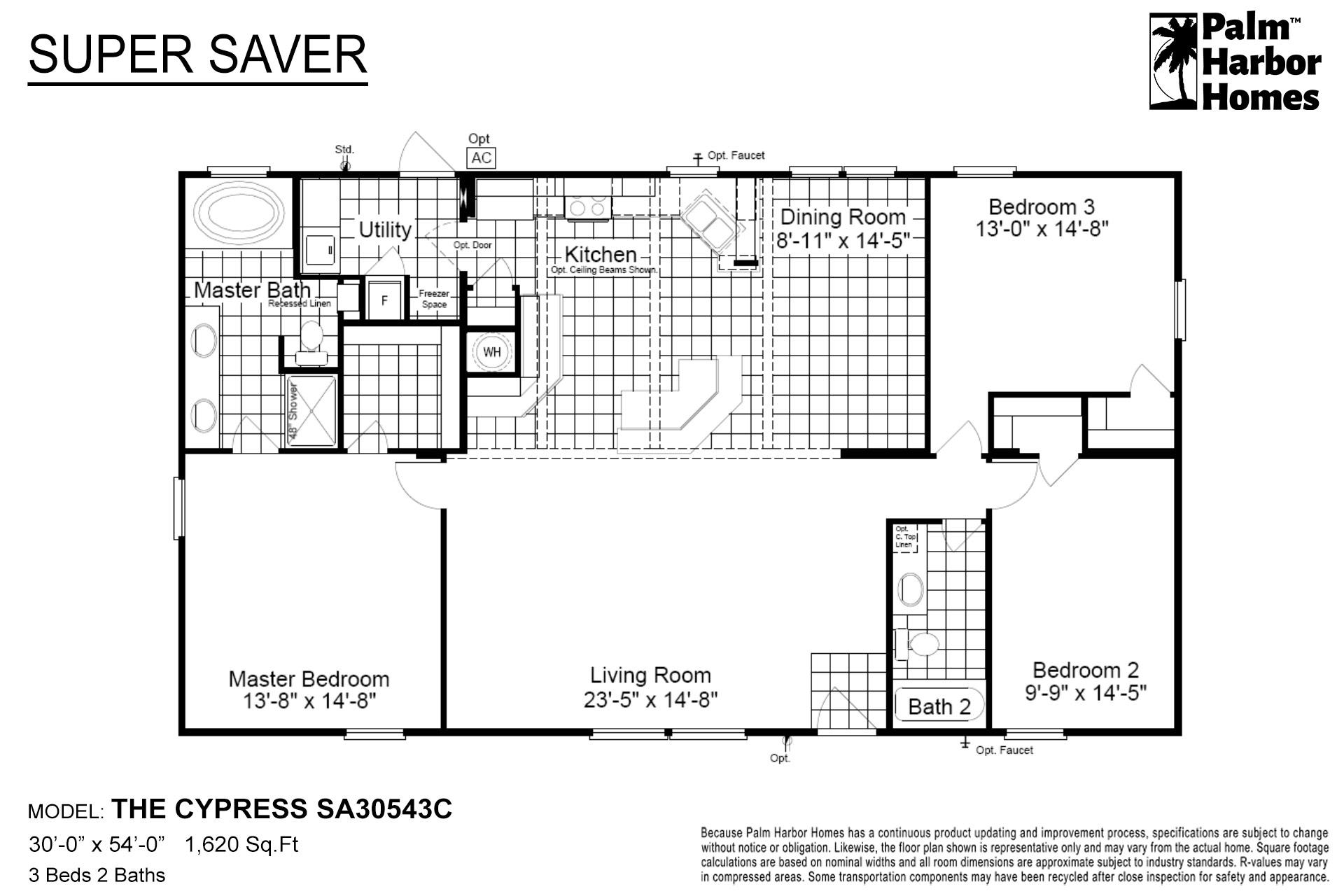 Super Saver The Cypress SA30543C Layout