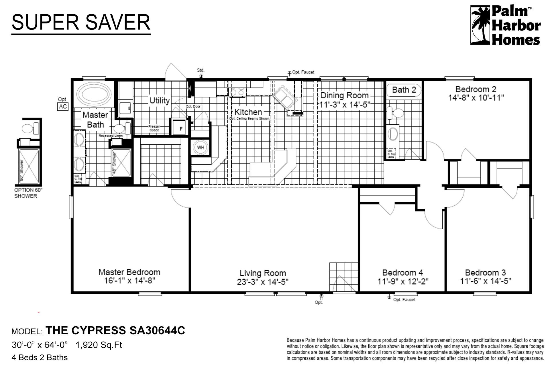 Super Saver The Cypress SA30644C Layout