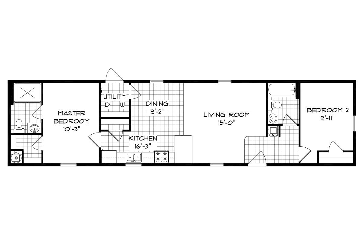 Mansion Singlewide 4043 Layout