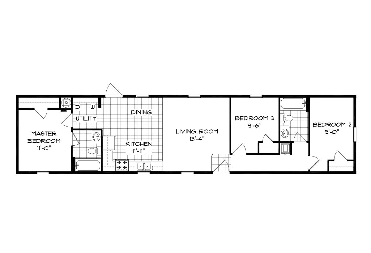Mansion Singlewide 4052 Layout