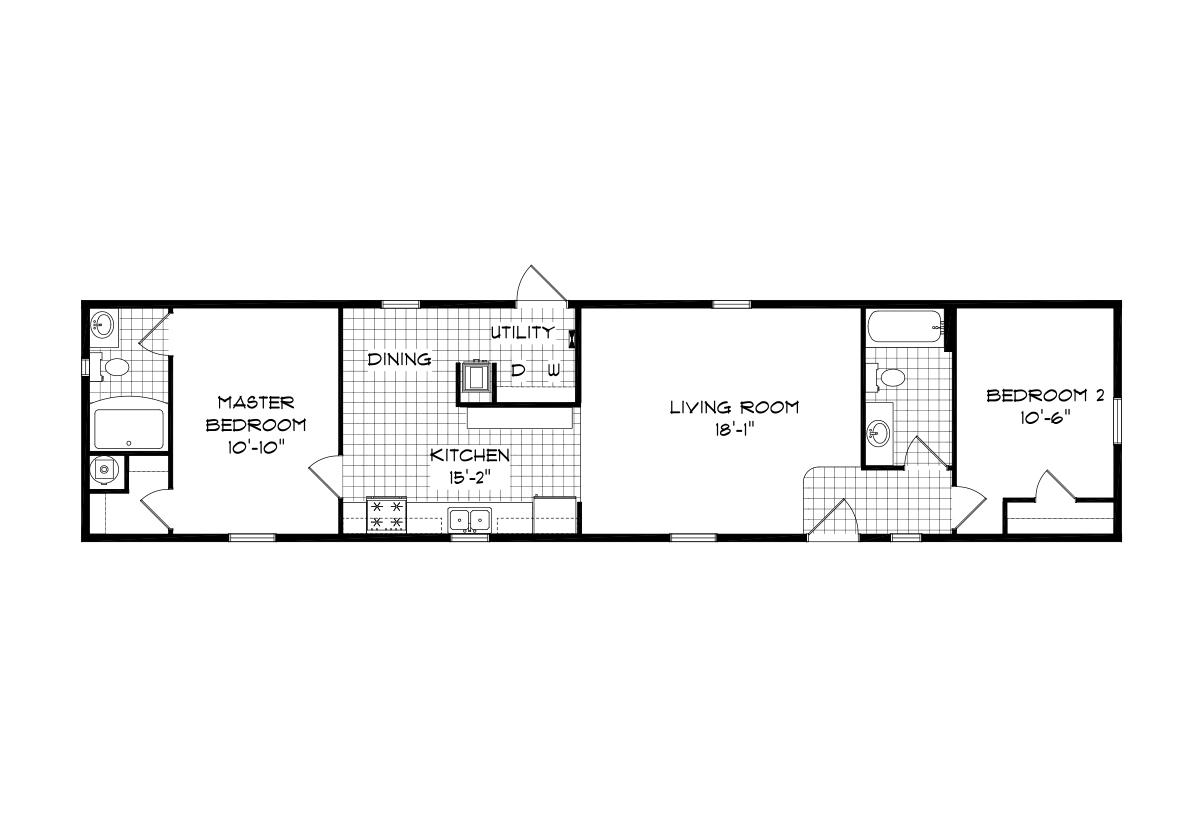 Mansion Singlewide 4072 Layout