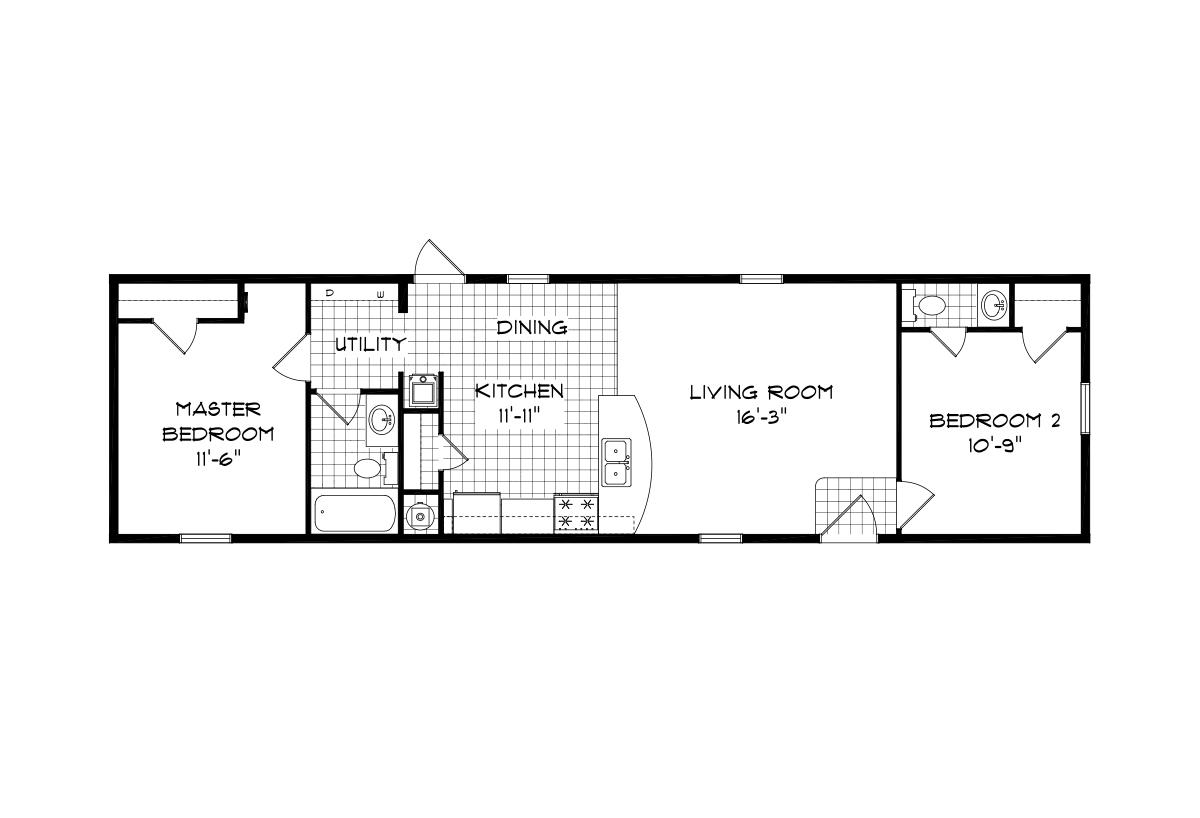 Mansion Singlewide 4062 Layout