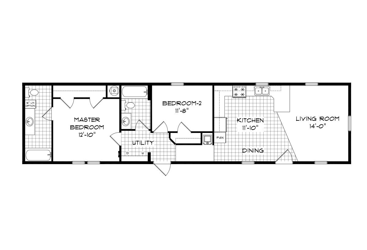 Mansion Singlewide 4036 Layout