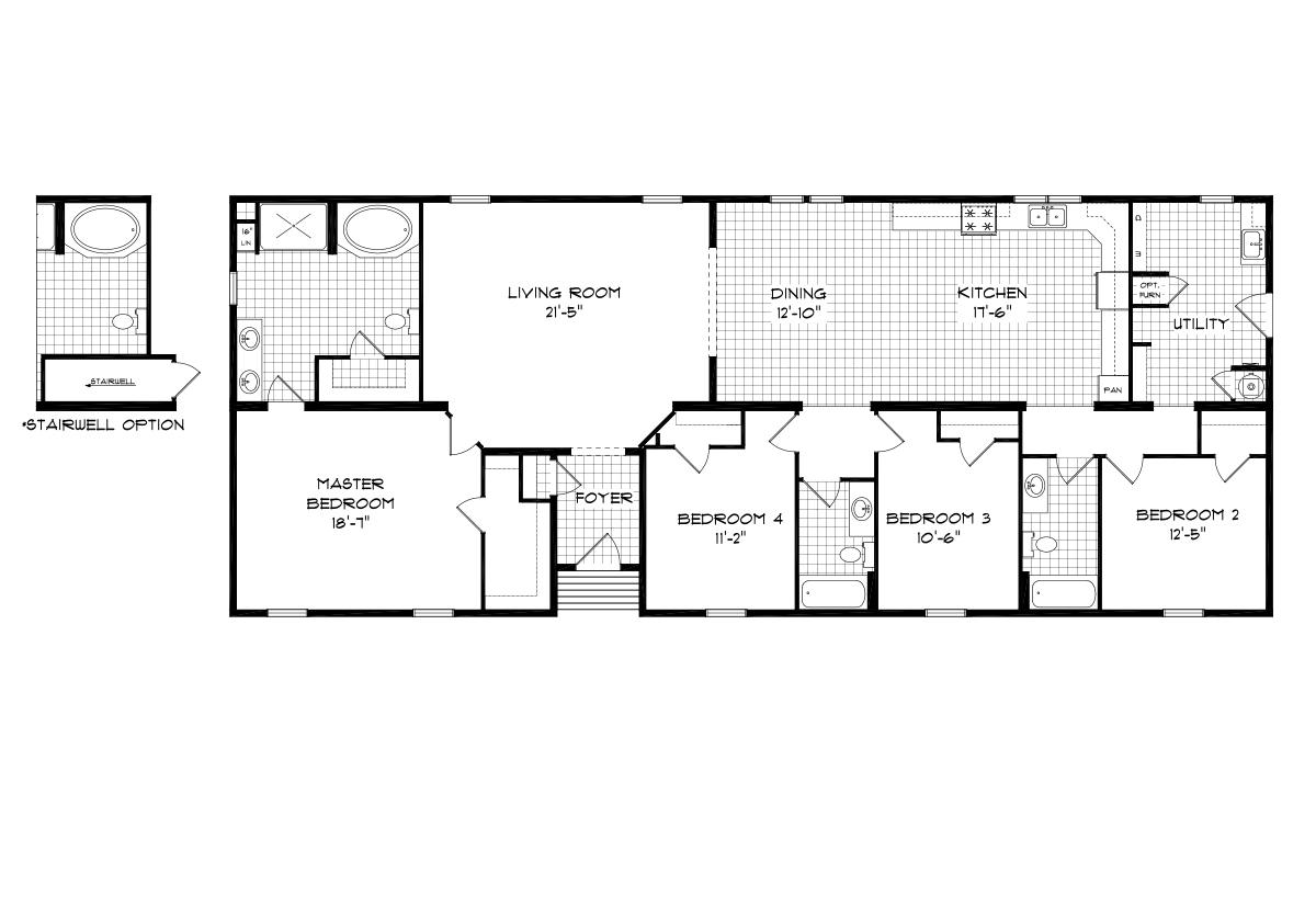 Mansion Elite Modular The Aspen Forest 3276B13 Layout