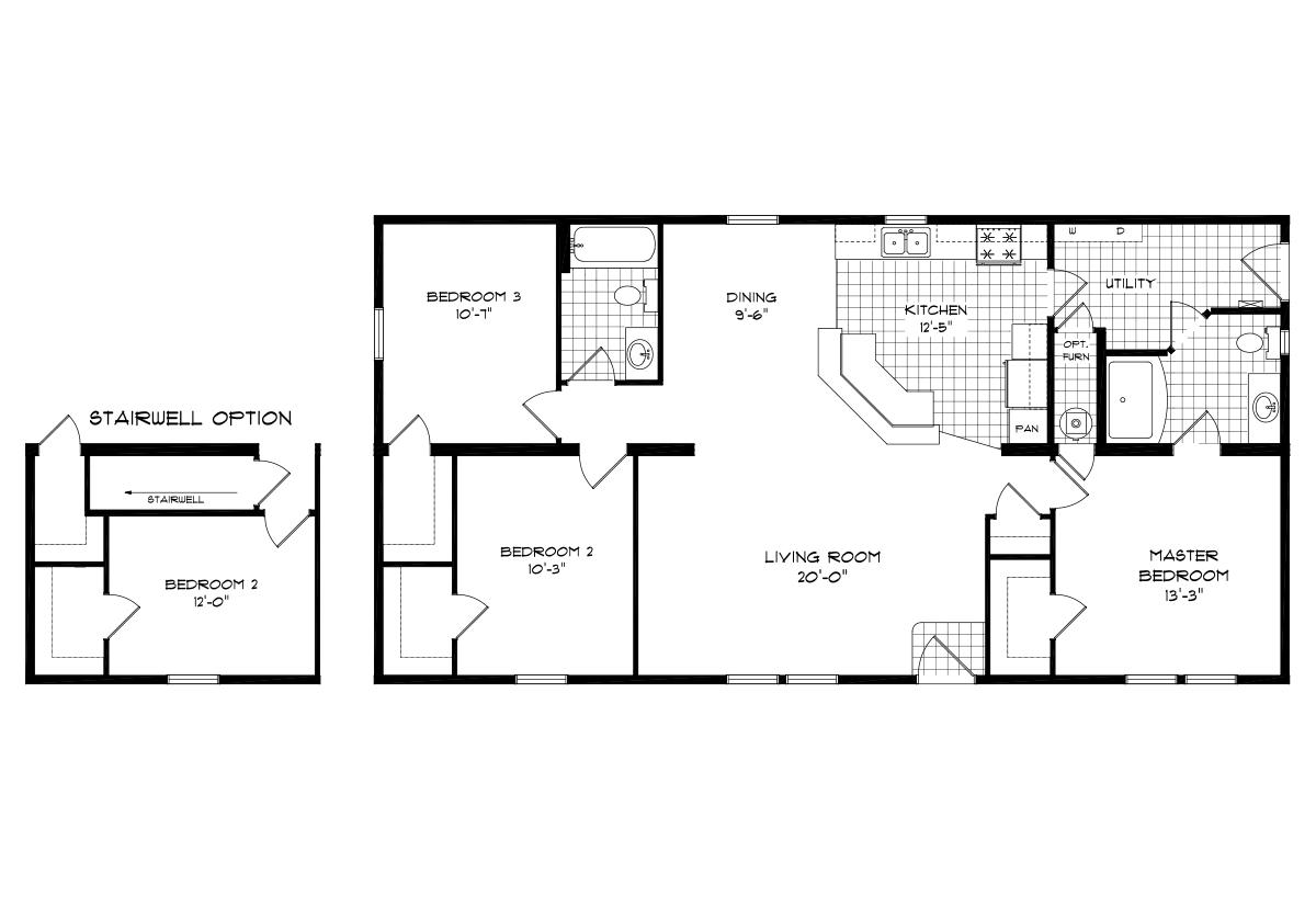 Mansion Elite Modular The Dakota Forest 52B15 Layout