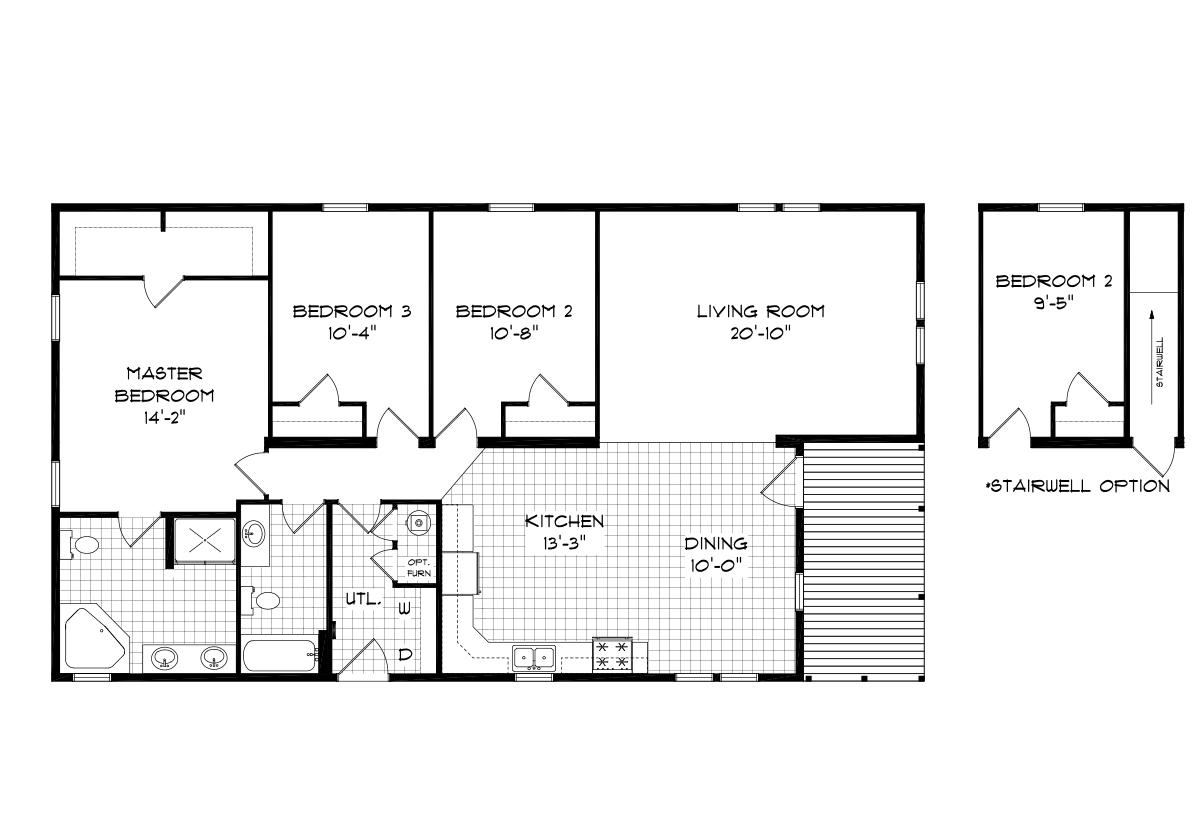 Mansion Elite Modular The Heather Forest 3256B04 Layout