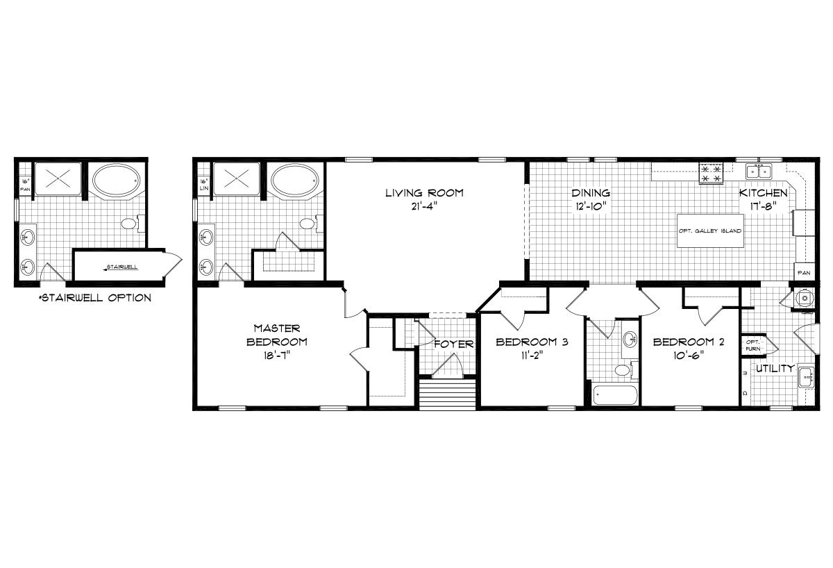 Mansion Elite Modular The Laurel Forest 66B01 Layout
