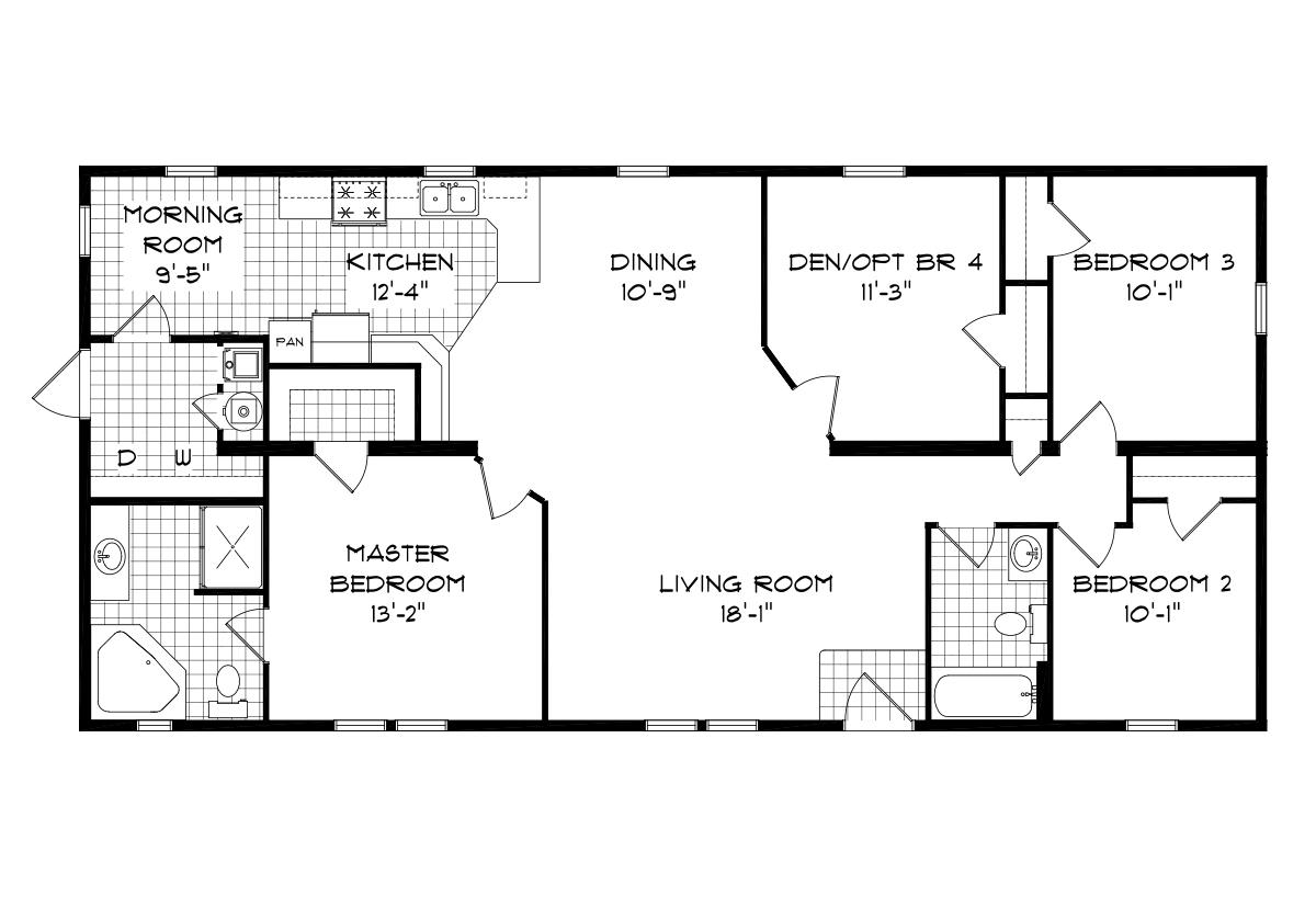 Mansion Elite Sectional The Hazelnut Creek 58602 Layout
