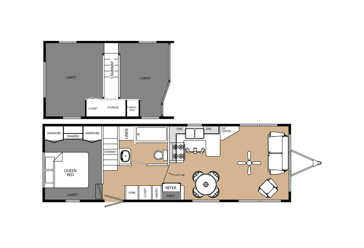 America's Park Cabins Lodge Series 39-3 Layout