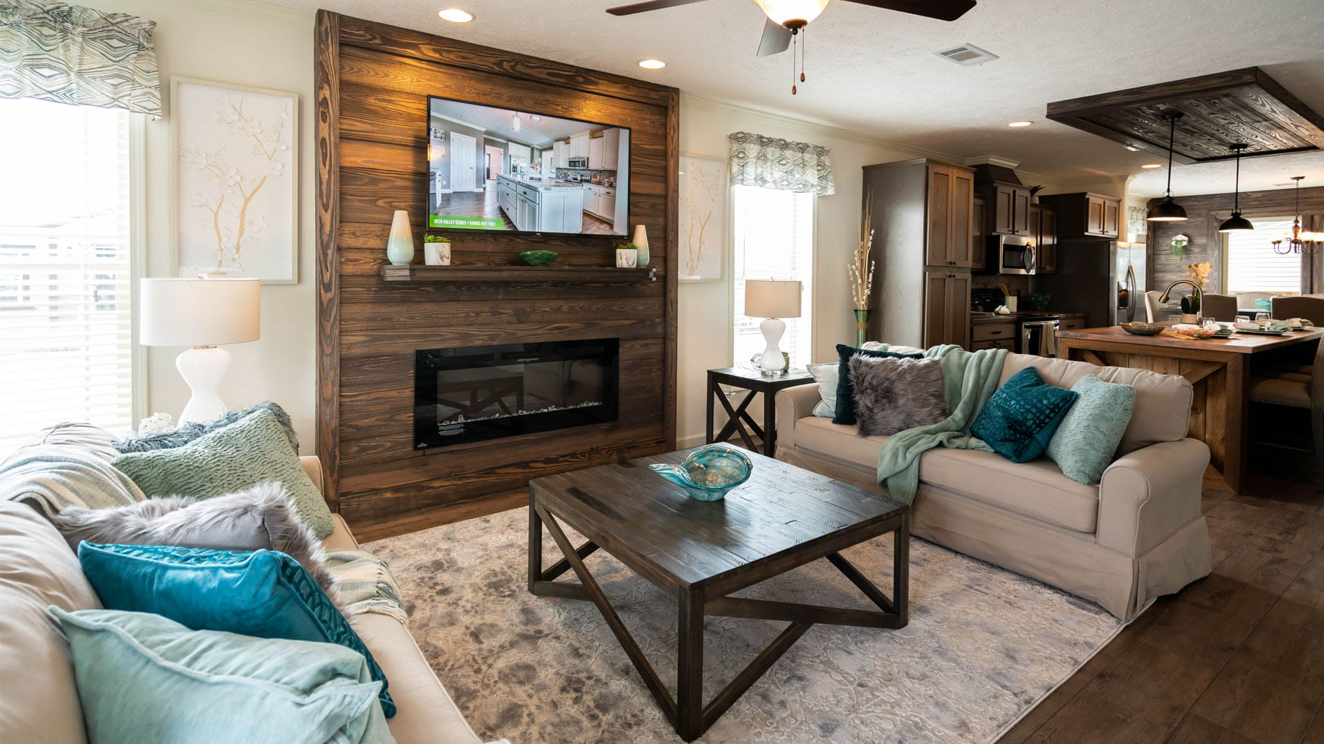 Deer Valley Homebuilders - Mossy Oak Nativ Living Series Robins Nest Living Room