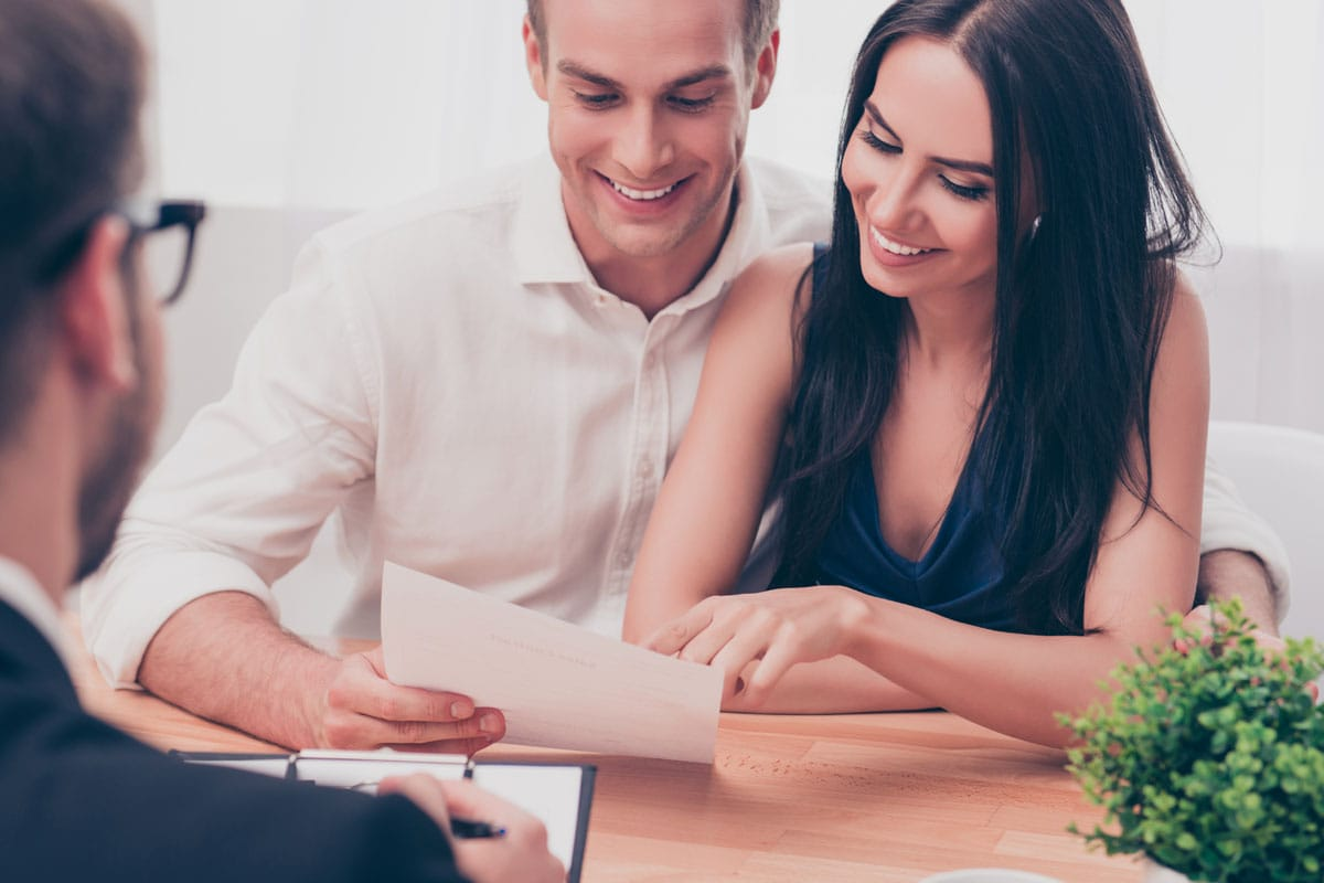 Couple Receiving Help With Home Financing