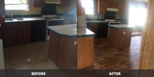 Used Mobile Home Refurbishment Before & After
